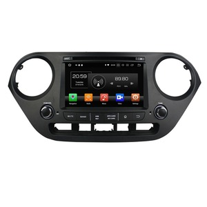 Android 8.0 Car Stereo DVD GPS Multimedia Navigation for Hyundai I10 2014 2015 4GB RAM Radio Bluetooth WIFI USB Mirror-link