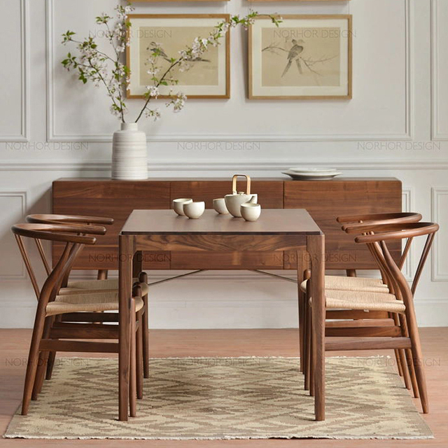 Nordic Wood Ash Solid Wood Dining Table Dining Table IKEA Coffee Table  Model Room Hotel Restaurant