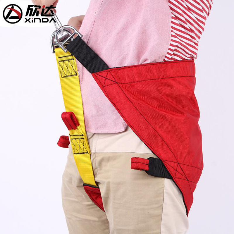 Xinda Outdoor Triangular Rescue Belt Aloft Fire Harness Security Belt Underground Rescue Belt Child Harness Climbing Rescue Belt outdoor rock climbing rappelling mountaineering full body safety harness wearing seat belt sitting bust protection gear