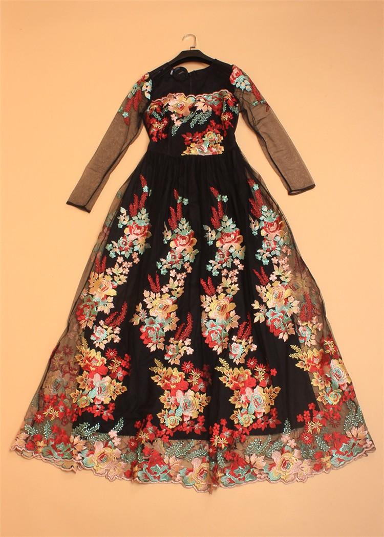 COCOEPPS Women Brand Clothing Print Floral Formal Maxi Dress Loose ... 310eb9d0bb97