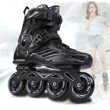 RS6 Профессиональные роликовые коньки Slalom для взрослых, роликовые коньки, обувь для катания на роликах,, размер 35-46, хорошие как SEBA кроссовки