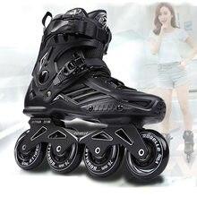 Rs6 patins inline profissional slalom adulto sapatos de patinação de rolo deslizando patinas de skate livre tamanho 35-46 bom como tênis seba