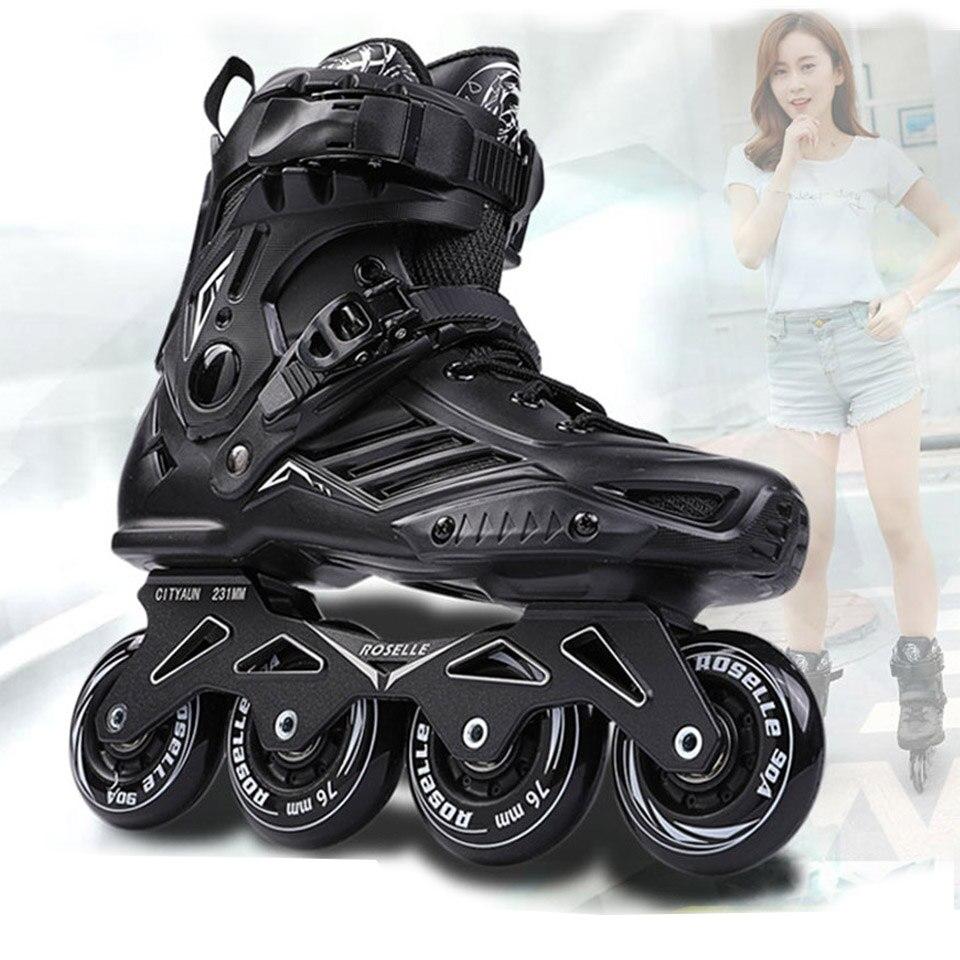 RS6 Patins à roues alignées Slalom professionnel chaussures de patinage à roulettes adultes Patins de Skate gratuits coulissants taille 35-46 bon comme baskets SEBA