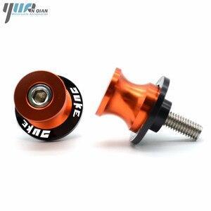 Image 4 - 8MM 10MM motocicleta Duke basculante de soporte deslizador de bobinas tornillos para KTM 990 SuperDuke 690 390 Duke/RC 390 200 Duke 690 Duke R