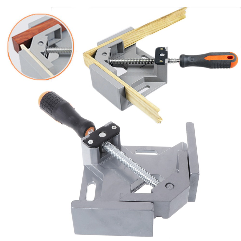 90 Dgree Right Angle Carbide Vice Clamps Woodworking Clip Photo Frame Gussets Tools New 2017 in Clamps from Home Improvement