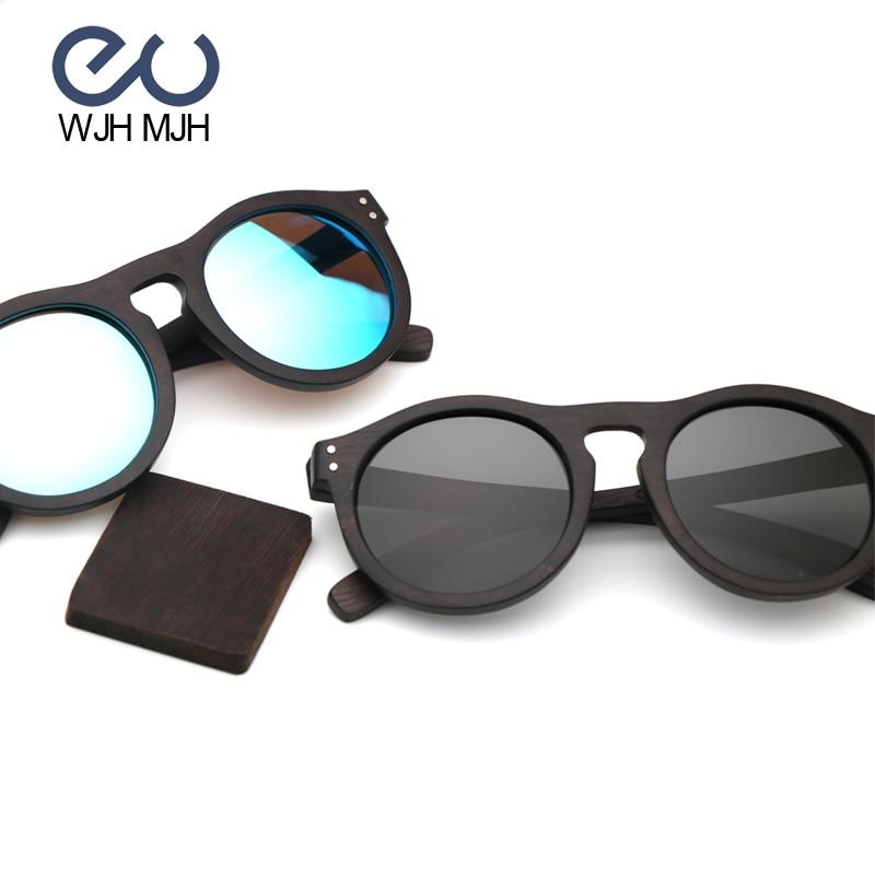 Mit Natürliche Holz Frauen grau Männer Original Mjh Und Linse Geschenk box Casual Blau Polarisierten Premium Rahmen Wjh Sonnenbrillen 4OXE7