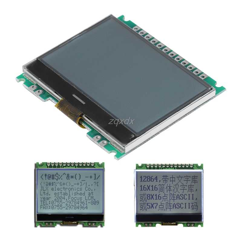12864 128X64 Serial SPI Graphic COG LCD Module Display Screen Build-in LCM Whosale&Dropship