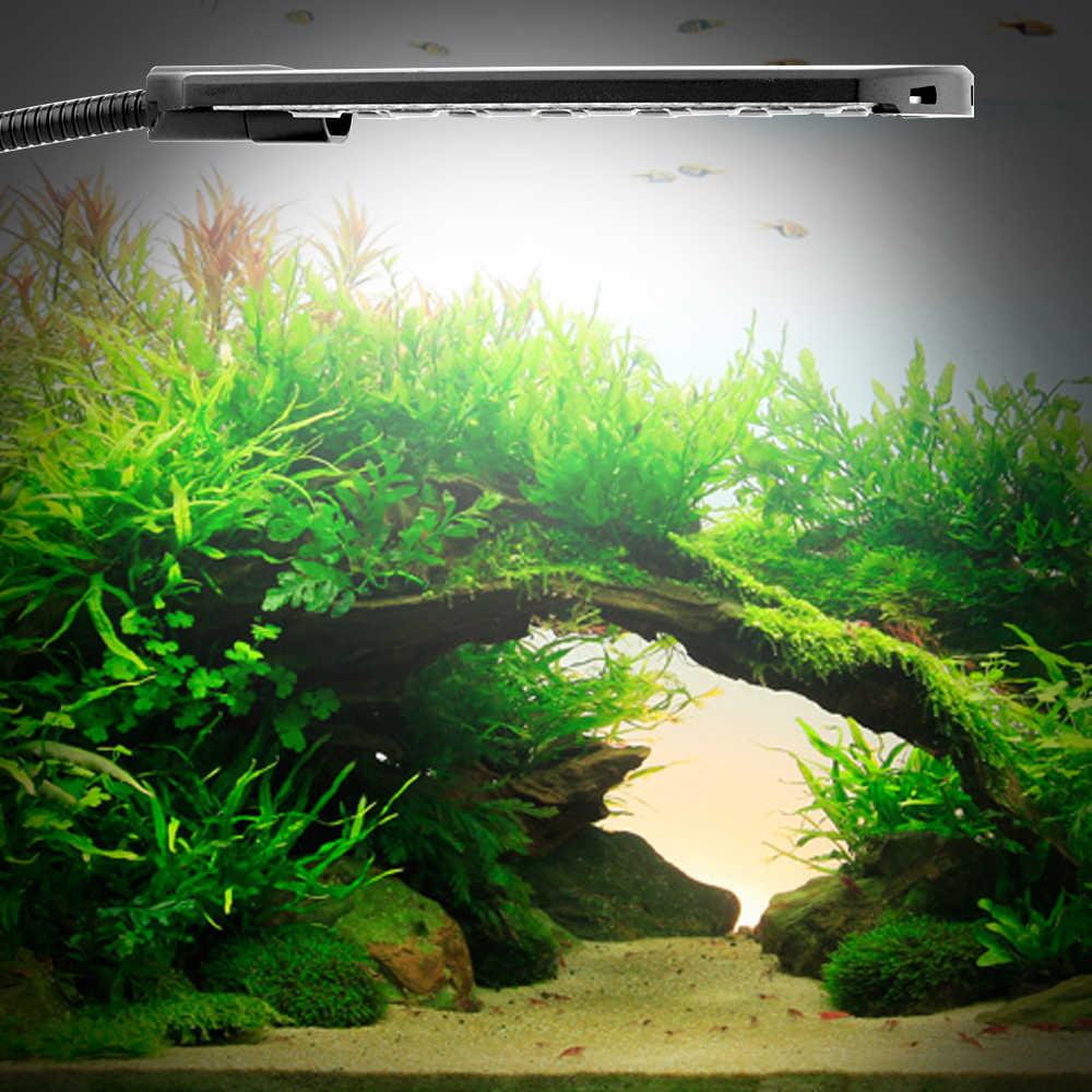 Double Head Aquarium Led Lighting Fish Tank Light 15w 220v Clip On Aquarium Lamp Eu Plug Waterproof Aquatic Plant Fishbowl Light