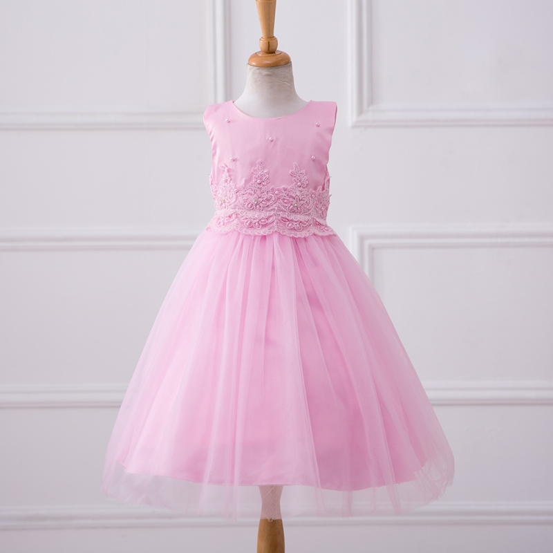 Summer Solid Baby Girl Princess Tutu Dress Kids Formal Party