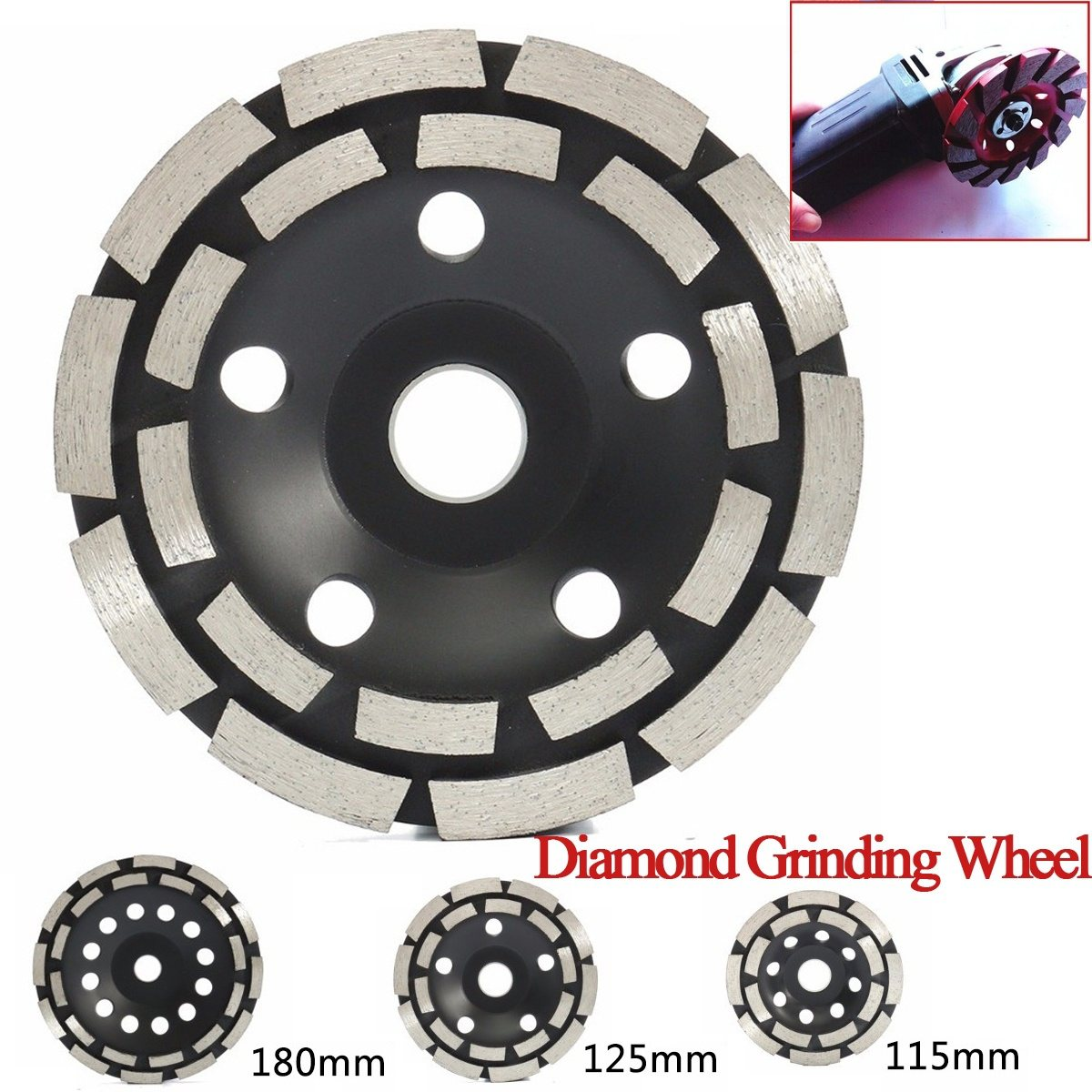 115/125/180 mm Diamond Grinding Disc Abrasives Concrete Tool Consumables Wheel Metalworking Cutting Masonry Wheel Cup Saw Blade цена