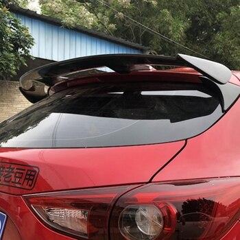 Fibra de carbono exterior traseiro spoiler cauda tronco boot asa decoração estilo do carro para mazda 3 axela hatchback 2014 2015 2016 2017