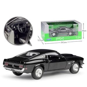 Image 4 - Welly 1:24 다이 캐스트 시뮬레이션 합금 모델 자동차 1969 포드 머스탱 보스 429 자동차 장난감 금속 장난감 자동차 어린이 장난감 선물 컬렉션