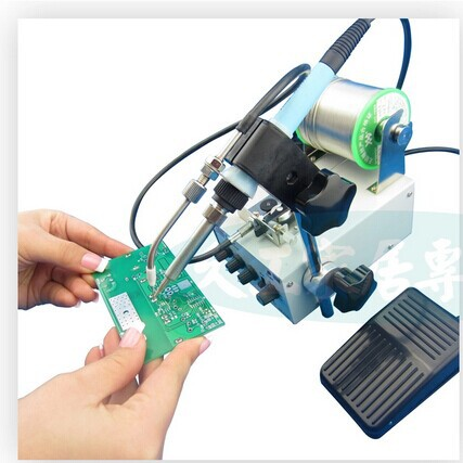 DHL/FEDEX 50W Multifunctional pedal automatically send tin soldering machine welding soldering iron tin welding torch F3100