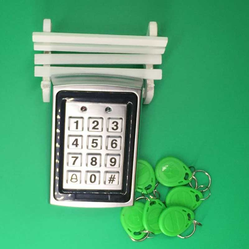Free Shipping Metal Proximity RFID Door Controller Password Keypad Access Control System + 125khz RFID Keytag high quality proximity rfid door controller password keypad access control system with rain cover k2000 rfid access control
