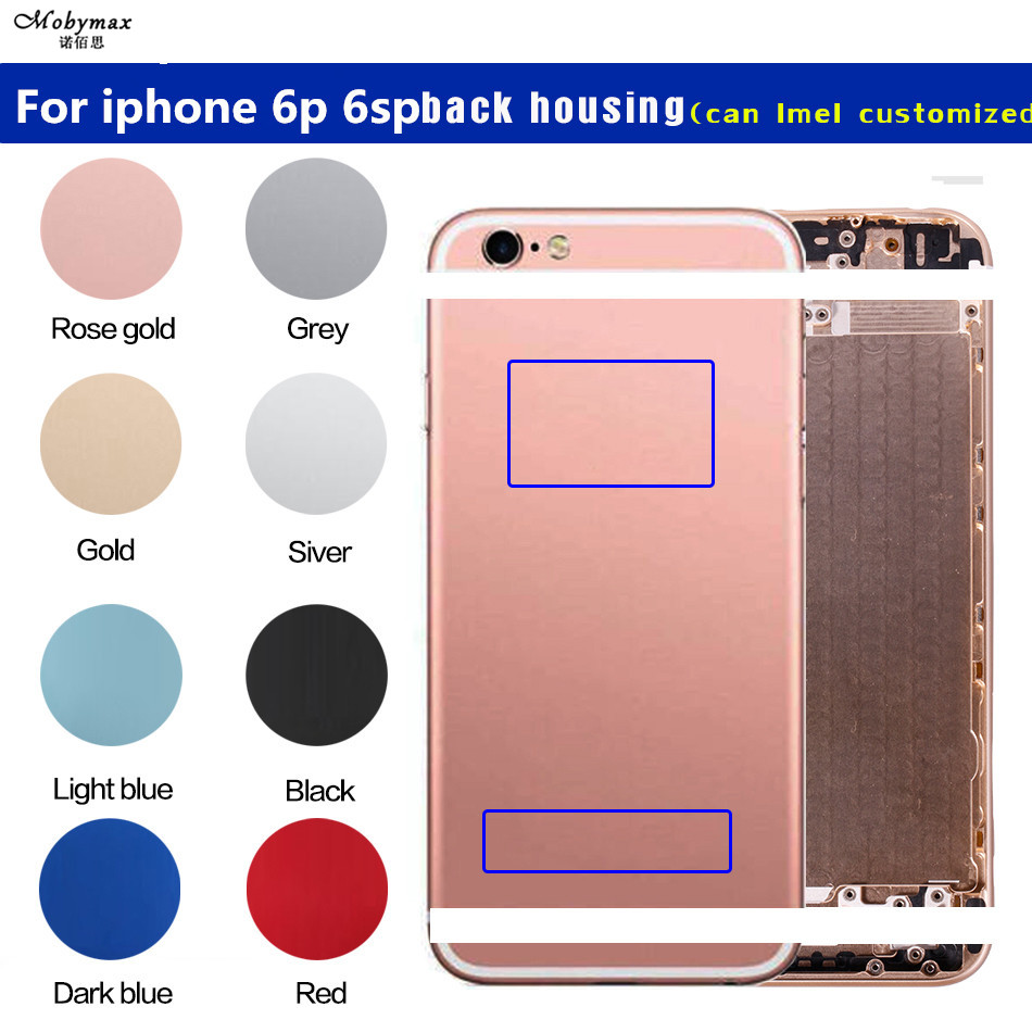 Frame Imei Battery-Cover Back-Housing Middle-Chassis iPhone 6splus Metal for 6p Custom-Case