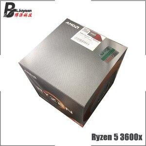 Image 1 - AMD Ryzen 5 3600X R5 3600X3.8 GHz Altı Çekirdekli Oniki Iplik CPU Işlemci 7NM 95 W l3 = 32 M 100 000000022 Soket AM4 yeni ve fan