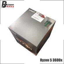 Processador amd ryzen 5 3600x r5, cpu r5 3600x 3.8 ghz com 6 e 12 núcleos, 7nm 95w l3 = 32m 100 000000022 soquete am4 novo e com ventilador