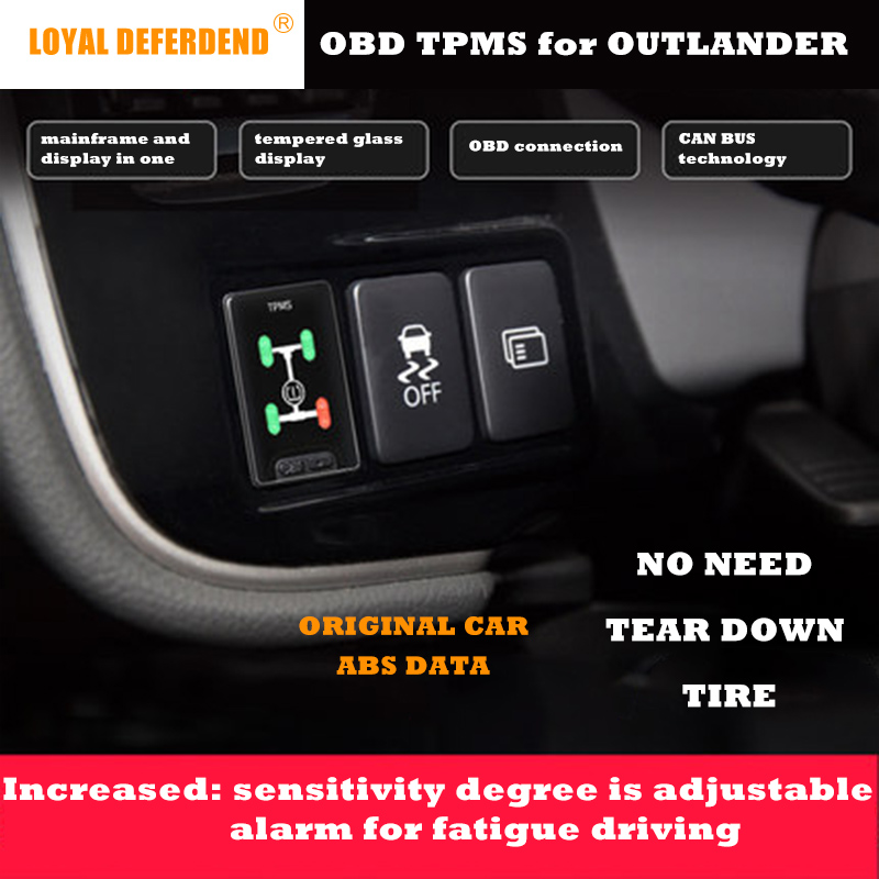 Outlander OBD TPMS tire pressure monitoring system real-time intelligent monitoring OBD sensor free  security alarm system gprs real time guard patrol monitoring system made in china