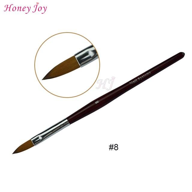 1PC Kolinsky Sable Acrylic Nail Art Brush No. 2/4/6/8/10/12/14/16/18 UV Gel Carving Pen Brush Liquid Powder DIY  Nail Drawing 3