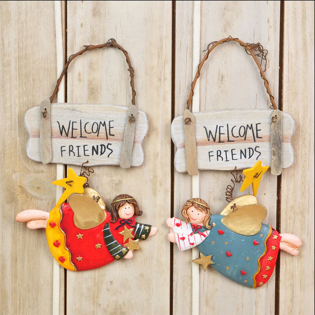 Online Shop Wooden Decor Of Gate Welcome Hang Signs Craft With . Wooden  Decor ...