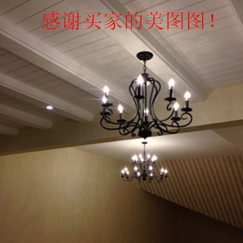 lampe retro kronleuchter beleuchtung industrie glühbirnen lampe - Innenbeleuchtung - Foto 5