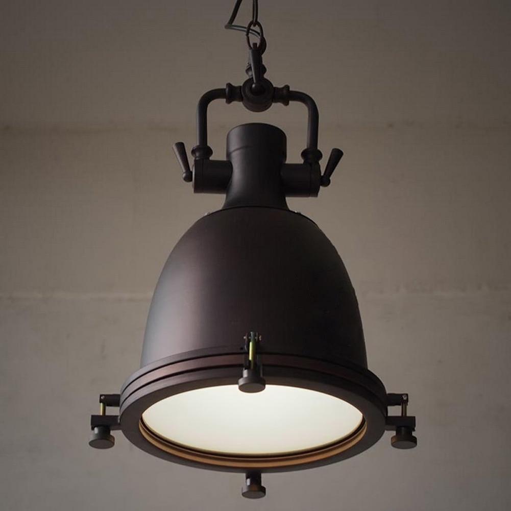 vintage rustic metal lampshade edison pendant lamp lights retro lustre shade hanging lampe. Black Bedroom Furniture Sets. Home Design Ideas