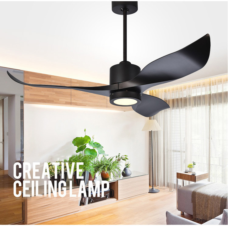 Ceiling Fans The Best Bochsbc Stainless Steel Ceiling Fan Light For Dininig Room Living Room Simple Modern Fan Light With Led Bulb And Wood Leaves
