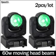 Луч 60 Вт движущаяся головка диско светильник dmx512 luces дискотека