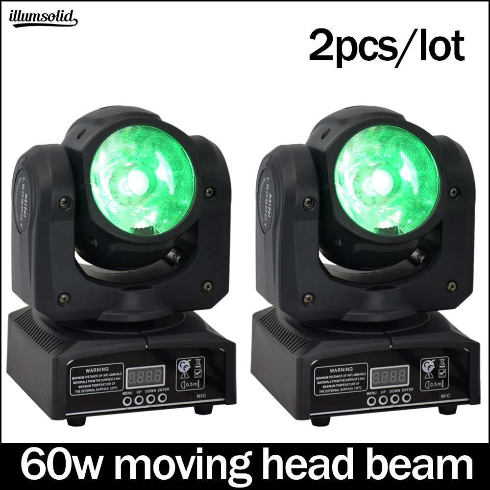 Beam 60w Moving Head Disco Light Dmx512 Luces Discoteca Professional Stage Lighting 2pcs/lot