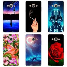 Colorful Painted Hard Plastic Cases For Samsung Galaxy J3pro J3110 Cartoon Animal Hard Phone Cases Flower Back Cover shell(China)