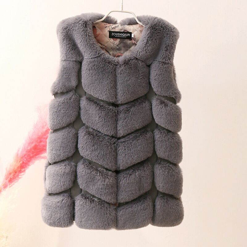 Autumn Winter Girls Faux Fur Vests Long Soft Kids Vest Children Waistcoat Warm Baby Sleeveless Jackets For Girl Fur Coat 2-12Yrs new fox fur vests for girls thicken warm waistcoat children vest baby girls faux fur jackets winter kids outerwear coats 2 12y