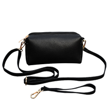 2019 New Women's Bag Three Zipper Korean Version of The Solid Color High Quality Leather Clutch Bag Fashion Wild Messenger Bag brown leather look solid color clutch bag
