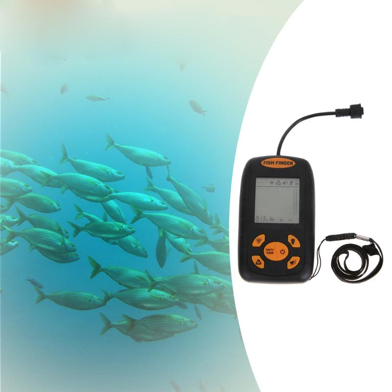Portable Water resistant Wire Ultrasonic Fish Finder Echo Sounder ...