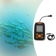Portable Water-resistant Wire Ultrasonic Fish Finder Echo Sounder 0.6 to 100M Transducer Sensor Depth Finder for River Lake