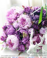 20 ADET 25 cm * 25 cm Yapay ipek Mor Lila şakayık çiçek duvar düğün dekorasyon ev dekor parti çiçekler duvar