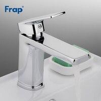 Frap torneira do banheiro chrome bacia torneiras sink toque mixer vanity quente e fria e água do banheiro robinet salle de bain f1046