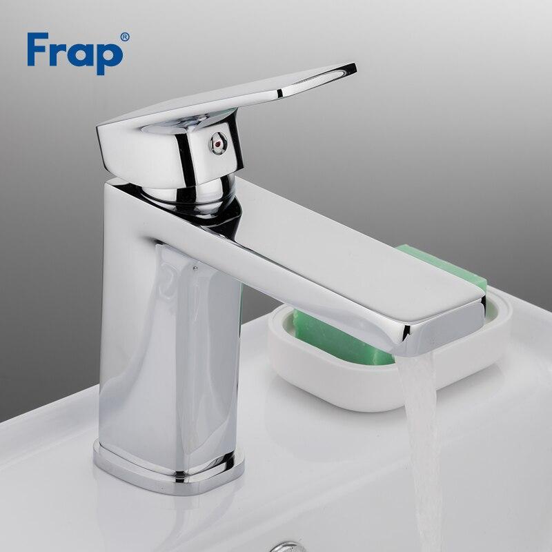 Robinet de salle de bain Frap robinets de bassin chromé évier mélangeur robinet vanité chaud froid et eau robinet salle de bain robinet salle de bain F1046