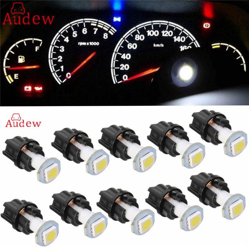 10Pcs T4.7 Car Instrument Light 5050 1 NEWMD LED Dashboard dash Lamp Bulbs NEW