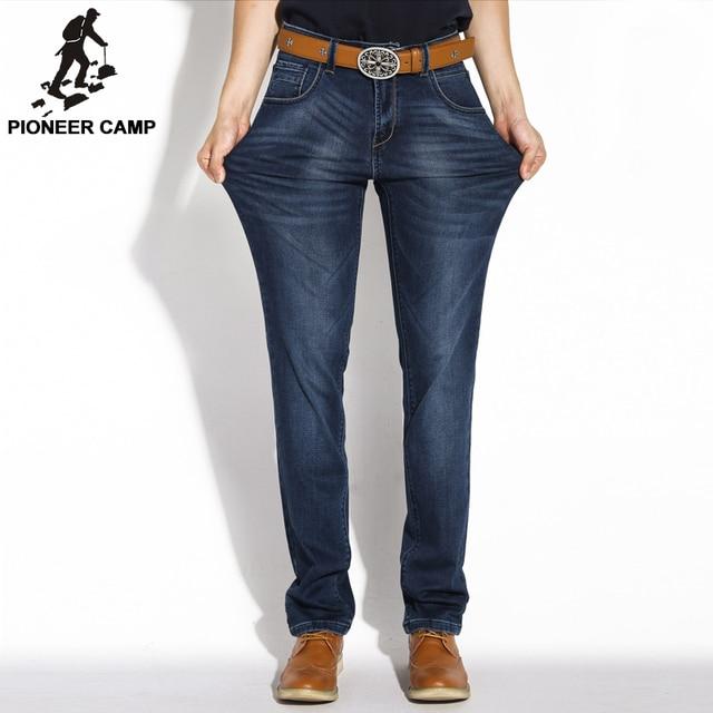 Pioneer Camp 2015 Мужские Джинсы Мужские брюки Зимние Тонкие 98% Хлобок Эластичная Ткань Высокое Качество Большой Размер Быстроя и Бесплатная доставка