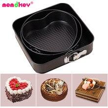3pcs/set Non-Stick Springform Pan Removable Bottom Bakeware Carbon Steel Cake Molds Round/heart/square Baking B
