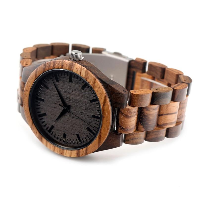 BOBO BIRD Wooden Watch Men relogio masculino Timepieces Japan Movt 2035 Quartz Watches Special for Drop