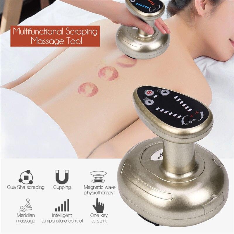 Electrónico de presión negativa terapia de acupuntura Meridian raspado calor succión cuerpo desintoxicación dragado cintura pierna masajeador