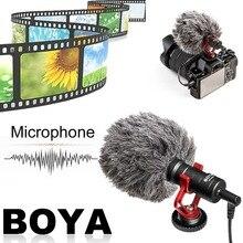 BOYA İLE-Kamera Video Mikrofon Youtube Üzerinde Kompakt Vlogging Röportaj Kayıt Mikrofon Için IOS Android Smartphone Için DSLR Kameralar Için