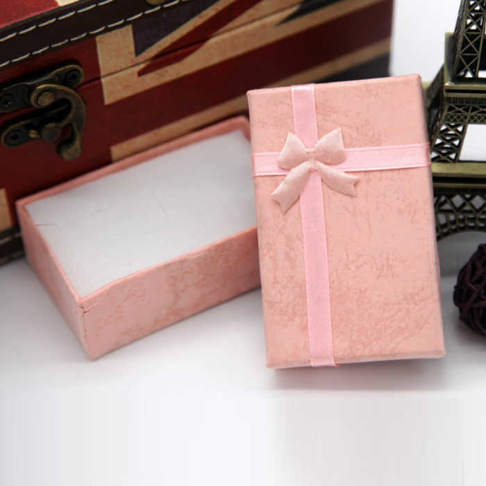 Шкатулка ожерелья Серьги Браслеты упаковочная коробка для подарка Оптовая продажа дисплей Классический бант Новинка wh