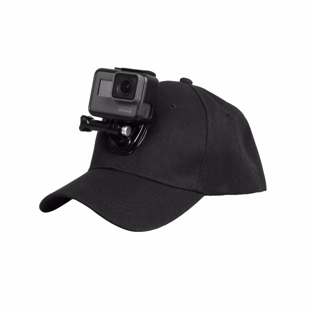 Sports Camera Hat For Gopro Accessories Adjustable Cap With Screws And J Stent Base For GoPro HERO 6 5 4 / 5 4 Session