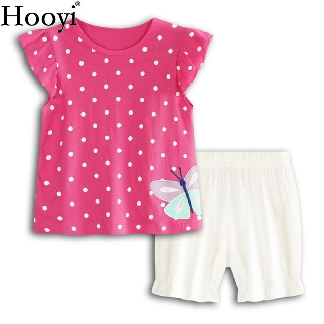 aba81dc69 Aliexpress.com   Buy Hot Pink Baby Girl Clothes Suit Dot Butterfly ...