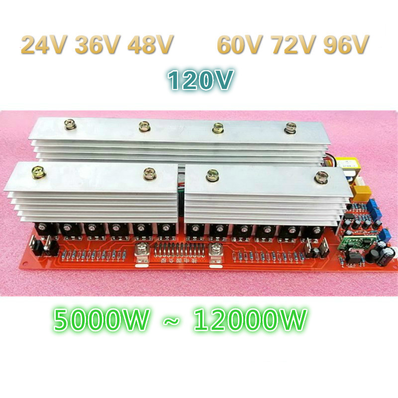 <font><b>24V</b></font> 5000W 36V 7600W 48V 10000W 60V 72V 96V 12000W Foot Power <font><b>Pure</b></font> <font><b>Sine</b></font> <font><b>Wave</b></font> Power Frequency <font><b>Inverter</b></font> Circuit Board A Main Board image
