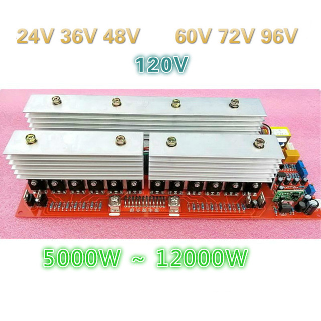 24V 5000W 36V 7600W 48V 10000W 60V 72V 96V 12000W ayak güç saf sinüs güç frekans invertör devre bir ana kurulu
