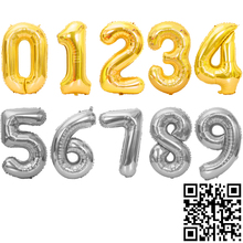 1pc 16/30/32/40inch Aluminium Foil Number Ballons Kids Event Festive Supplies Birthday Party Decoration Wedding Balloons