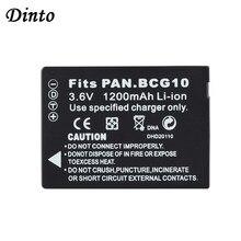 DINTO 1pc 1200mAh DMW-BCG10 DMWBCG10 akumulator litowo-jonowy baterii aparatu opakowanie dla Panasonic Lumix DMC-3D1 TZ7 TZ8 TZ10 DMW BCG10 BCG10E